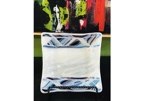 Cindy Raux Blue/White Square Plate