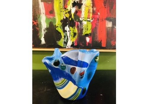 Cindy Raux Multi-Blue Vase