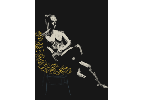 Geli Chavez Geli Chavez Nude Figure in Chair