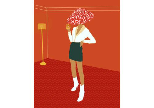 Geli Chavez Geli Chavez Mushroom Figure Print