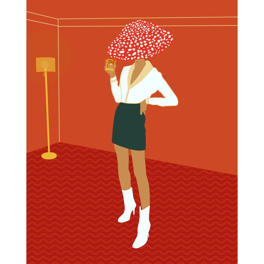 Geli Chavez Mushroom Figure Print
