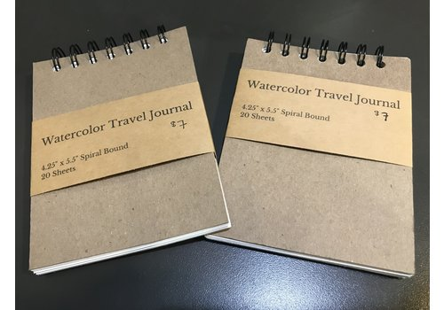 "Vintage Watercolors Watercolor Travel Journal 4.25""x5.5"""