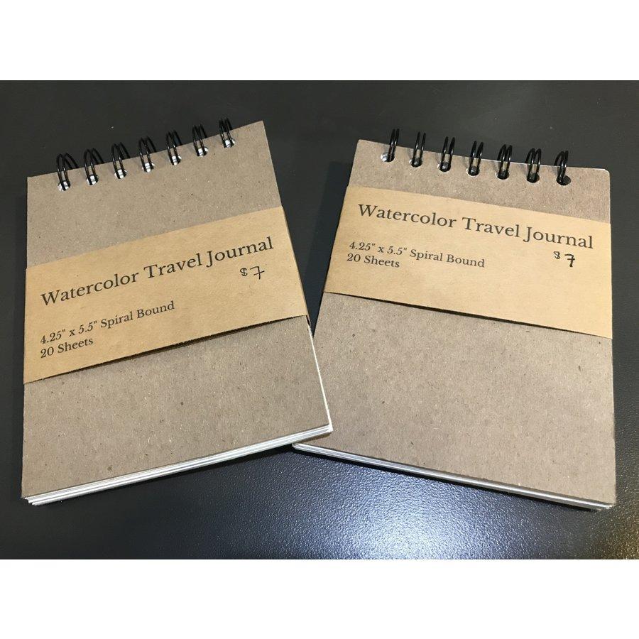 "Watercolor Travel Journal 4.25""x5.5"""