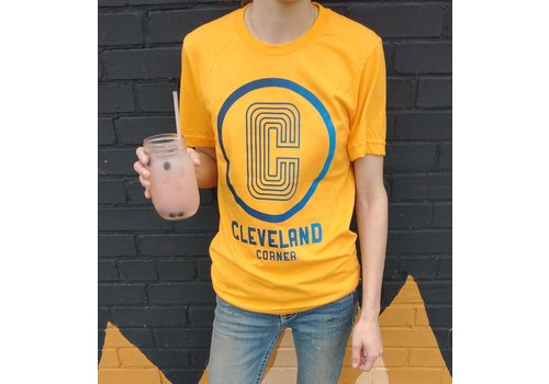 The Workroom Cleveland Corner Orange Crew Cut Tee shirt