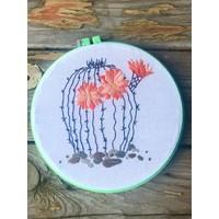 Round Cactus Embroidery