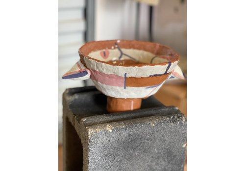 Kat Smalls Studio Kat Smalls Studio- Ceramic Bowl- Pink, Purple, Whit