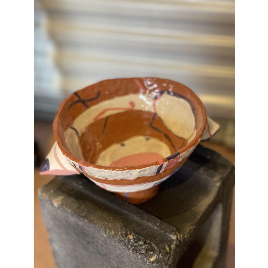Kat Smalls Studio- Ceramic Bowl- Pink, Purple, Whit