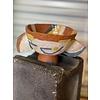 Kat Smalls Studio Kat Smalls Studio- Ceramic Bowl- Teal, Yellow, White