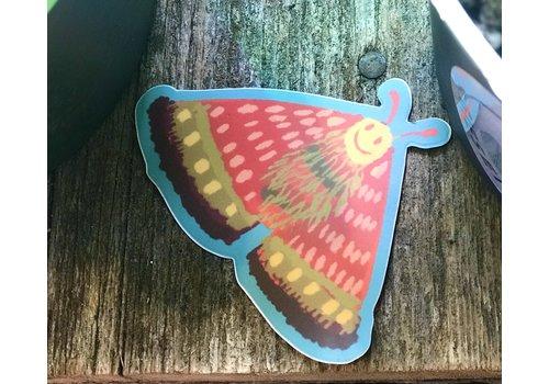 Delilah Reed Delilah Smilie Face Moth Decal