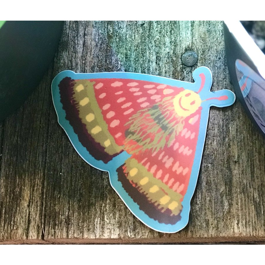 Delilah Smilie Face Moth Decal