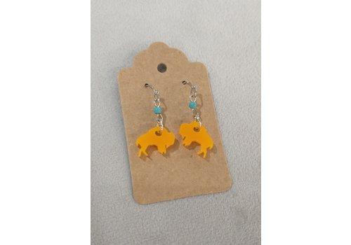 ICTMakers Acrylic Bison Earrings