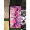 """Acrylic Creations By Jessica Kilpatric Jessica Kilpatric- White, Pink, and Purple 12""""x24"""""""
