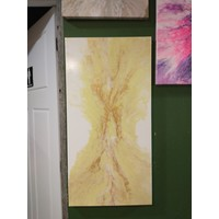 """Jessica Kilpatric- White, Yellow and Gold 12""""x24"""""""