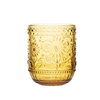 Creative Co-Op Embossed Drinking Glass/Voltive Holder