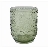 Embossed Drinking Glass/Voltive Holder