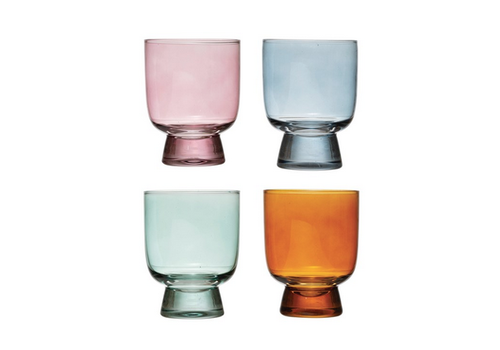 Creative Co-Op Colored Drinking Glass