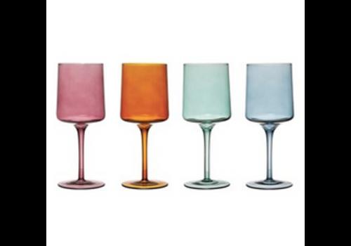 Creative Co-Op Colored Wine Glass