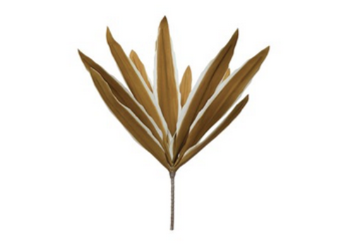 Creative Co-Op Faux Reed Leaf Stem, Chartreuse