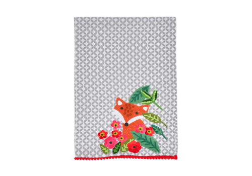 Karma Living Embroidered Cotton Hand Towels