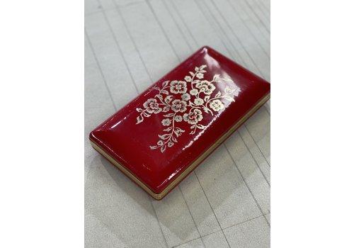 Vintage Vintage Red Jewelry Case