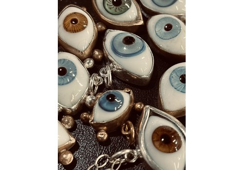 Jess Vintage Medium Eyeball Necklace