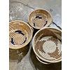 """Kabba Africa Art Handwoven Fiber 12"""" Bowl with handles"""