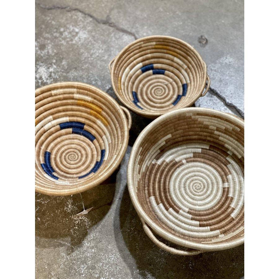 "Handwoven Fiber 12"" Bowl with handles"