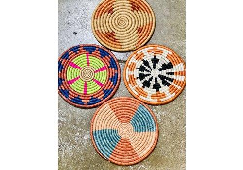 """Kabba Africa Art Handwoven Fiber 9.5"""" Trivet, Asstd."""