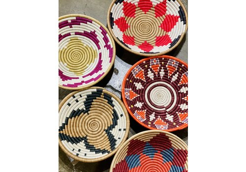 """Kabba Africa Art Handwoven Fiber 14"""" Bowl, Asstd."""