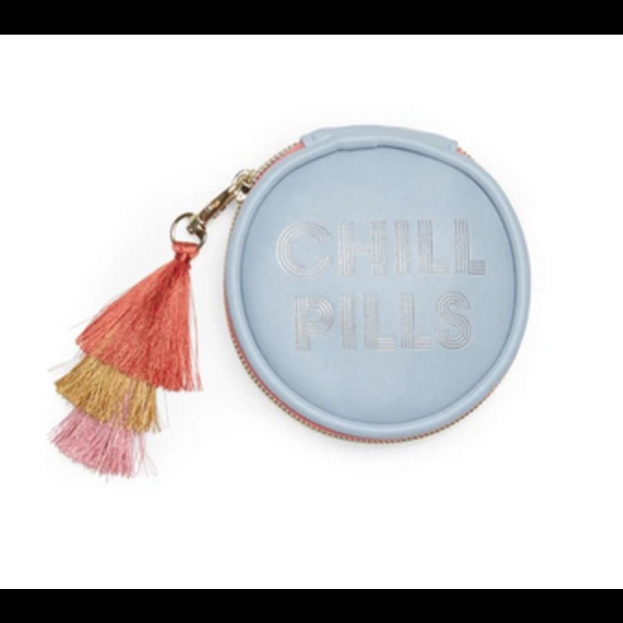 Chill Pills Vegan Leather pill box with tassel