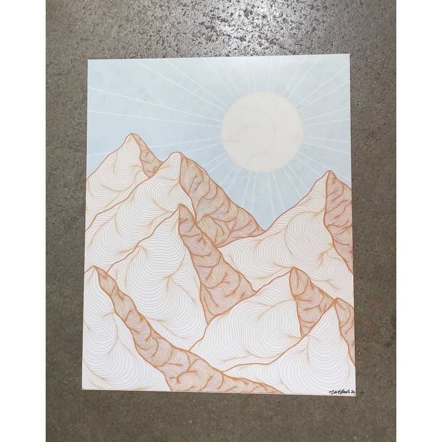 """Made by Nat """"On Mountain Time"""" Print"""