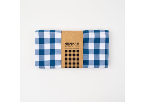 """One Hundred 80 Degrees Blue Gingham Picnic Cloth 56""""x56"""""""