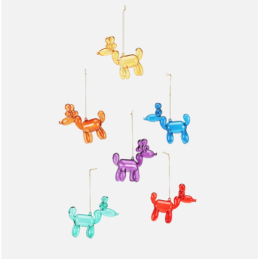 "Reindeer Balloon Ornament 3.5"""