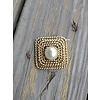 Vintage Hat Pin- Square w/ Pearl