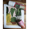 Mid Century Modern- Pink Picasso Paint by Number
