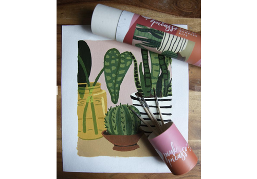 Pink Picasso Mid Century Modern- Pink Picasso Paint by Number