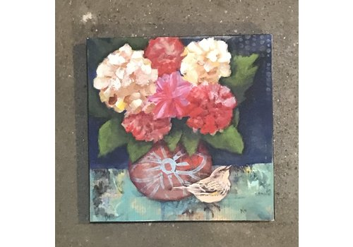 """fromvictoryroad Mounted Art Print Bouquet 6""""x6"""""""