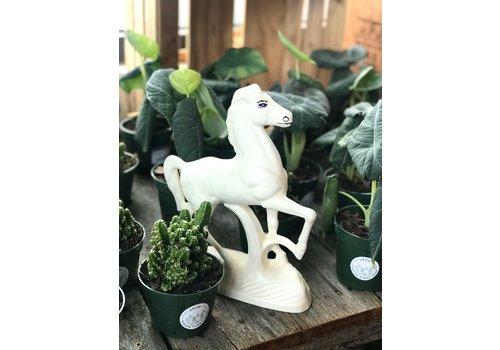 Vintage Vintage White Ceramic Horse