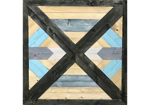 """Glacier Wood Design Co Blue West 24""""x24"""""""