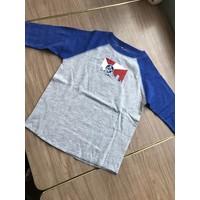 Grey/Blue Youth Raglan Long Sleeve