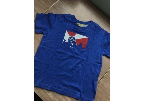 GMFD 50/50 Blue Youth Short Sleeve Wichita Flag/Skyline