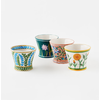 """One Hundred 80 Degrees Hand Painted Flower Pots 5"""""""