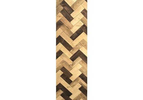 "Glacier Wood Design Co Herringbone #2 10""x30"""