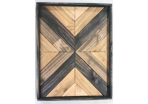 Glacier Wood Design Co Mirrored Chevron Neutral