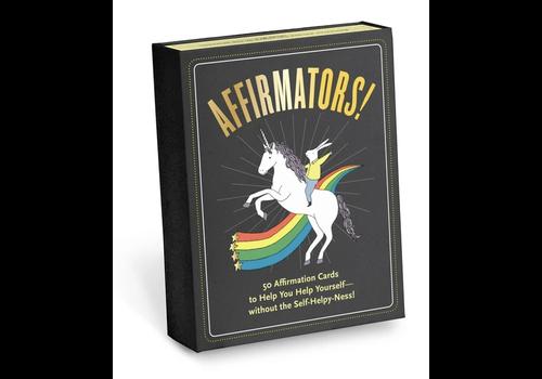 Knock Knock Affimators! 50 Affirmation cards