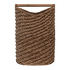 Creative Co-Op Seagrass Laundry Basket w/ Rattan, Natural Colored