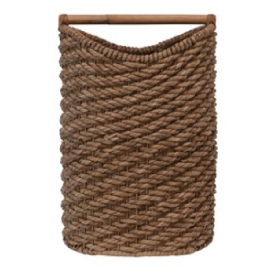 Seagrass Laundry Basket w/ Rattan, Natural Colored