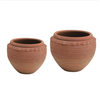 Creative Co-Op Round Textured Terra-cotta Pot