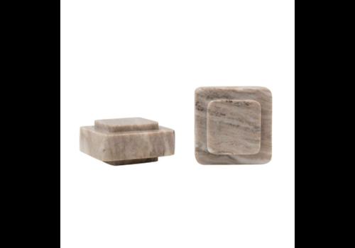 Bloomingville Marble Bookends, Beige, Set of 2