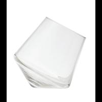 Glass Vase with Angled Base